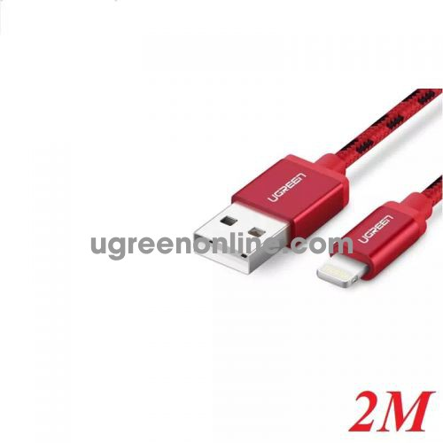 Ugreen 40481 2M USB 2.0 to Lightning cable cáp with Braid US247 10040481
