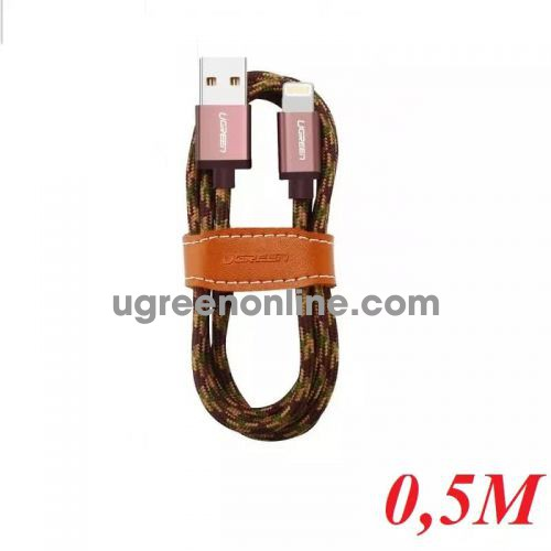 Ugreen 40688 0.5M USB 2.0 to Lightning cable cáp with Braid US247 10040688