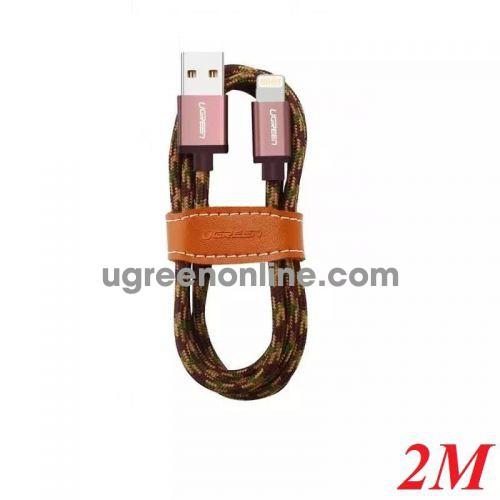 Ugreen 40691 2M USB 2.0 to Lightning cable cáp with Braid US247