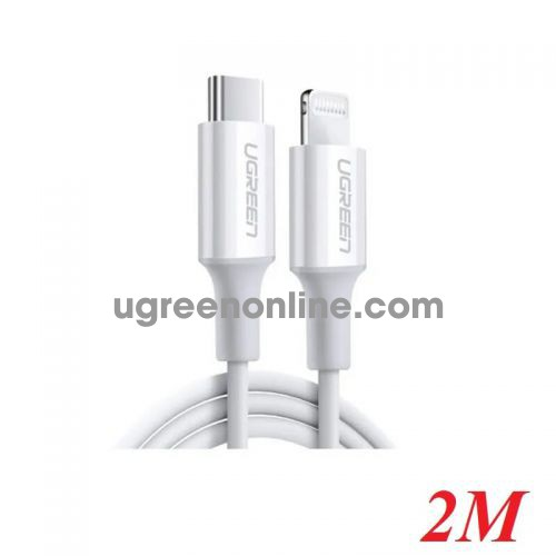 Ugreen 60749 2m white lightning to type-c 2.0 cable US171 10060749