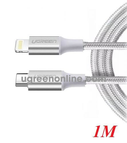 Ugreen 70523 1m white lightning to usb type c 2.0 cable US304 10070523