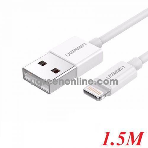 Ugreen 80315 1.5M MFI white Lightning To USB 2.0 A Male Cable US155 10080315