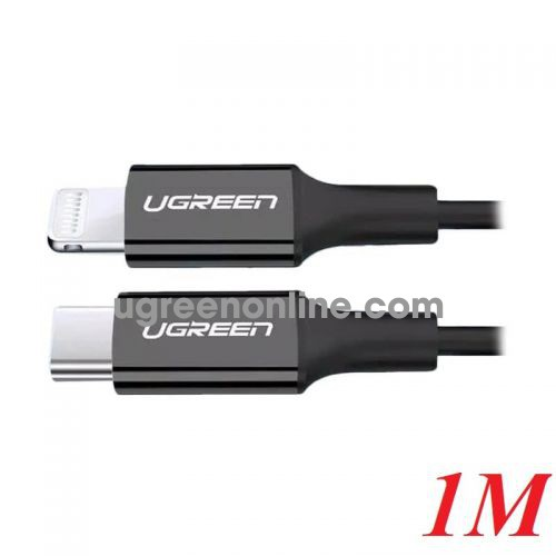 Ugreen 60751 1M Lightning to Type-C 2.0 Cable Black US171 10060751