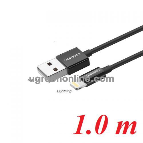 Ugreen 80822 1M Black Lightning To USB 2.0 A Male Cable US155 10080822