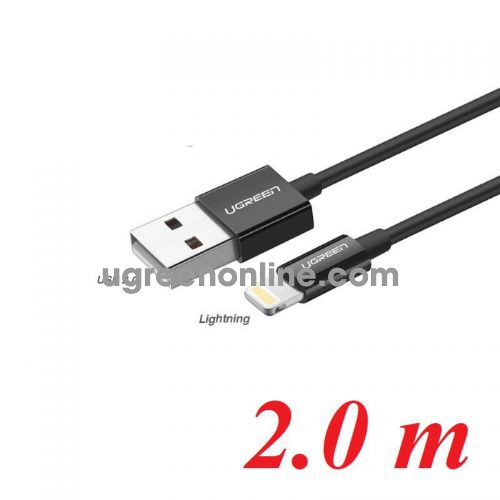 Ugreen 80823 2M Black Lightning To USB 2.0 A Male Cable US155 10080823
