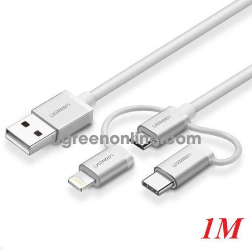 Ugreen 50202 1M Ugreen Multifunction Cable Màu Bạc US186