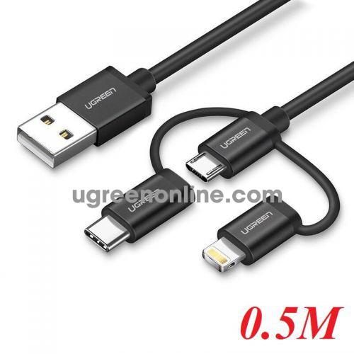 Ugreen 50204 0.5M Ugreen Multifunction Cable Màu Đen US186