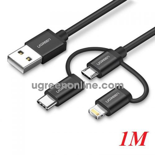 Ugreen 50205 1M Ugreen Multifunction Cable Màu Đen US186
