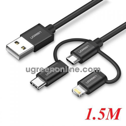 Ugreen 50206 1M Ugreen Multifunction Cable Màu Đen US186