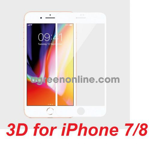 Mipow BJ11-WT Miếng dán cường lực Kingbull 3D for iPhone 7/8 White ( BJ11-WT ) GKOL 85652