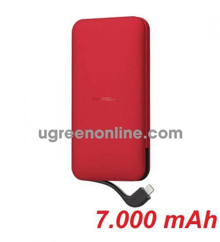 Mipow SPL08WRD Pin sạc dự phòng Cube 7.000 mAh ( Red ) ( SPL08W-RD ) GKOL 85945