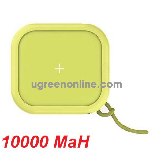 Mipow SPX01W-T-GR Sạc dự phòng không dây Cube X 10000 PD18W Version II Green ( SPX01W-T-GR ) GKOL 87145