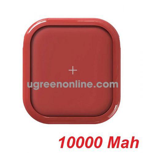 Mipow SPX01W-T-R Sạc dự phòng không dây Cube X 10000 PD18W Version II Red ( SPX01W-T-R ) GKOL 87837