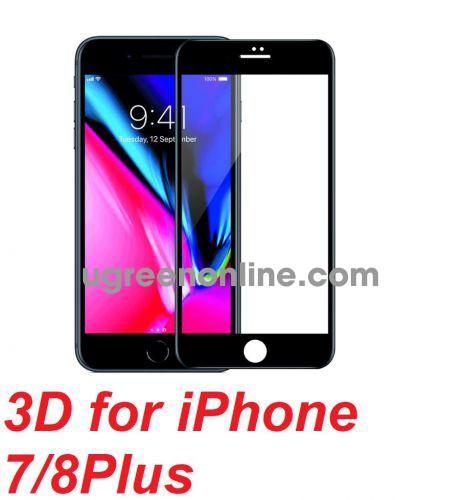 Mipow BJ12-BK Miếng dán cường lực Kingbull 3D for iPhone 7/8Plus Black ( BJ12-BK ) GKOL 87927