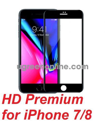 Mipow P-BJ26-BK Miếng dán cường lực Kingbull HD Premium for iPhone 7/8 Black ( P-BJ26-BK ) GKOL 88110