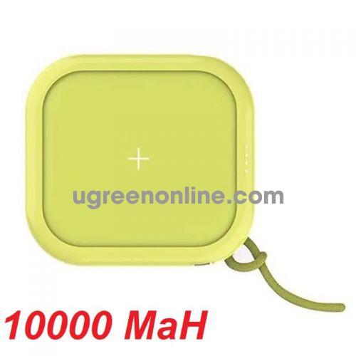 Mipow SPX01W-GN Sạc dự phòng không dây Cube X10000+ Green ( SPX01W-GN ) GKOL 88362