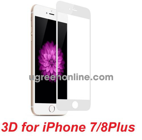 Mipow BJ12-WT Miếng dán cường lực Kingbull 3D for iPhone 7/8Plus White ( BJ12-WT ) GKOL 88466