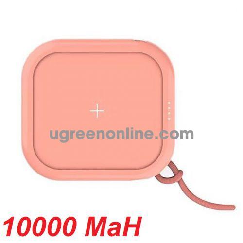 Mipow SPX01W-T-PK Sạc dự phòng không dây Cube X 10000 PD18W Version II Pink ( SPX01W-T-PK ) GKOL 88497