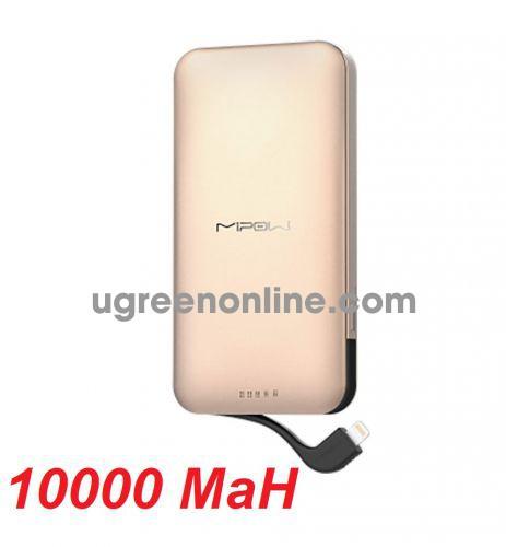 Mipow SPL10RG Sạc dự phòng Power cube 10000 Lightning cable ( Rose Gold ) ( SPL10-RG ) GKOL 88737