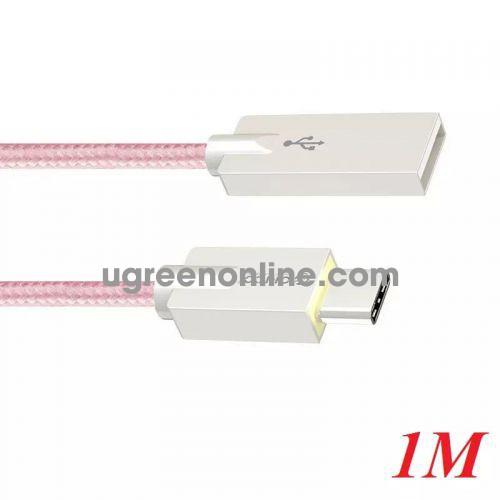 Orico Hcu-10-Pk Cáp Sạc Điện Thoại Typec Dây Dù Hồng 1M - Type C To Usb 1M Cable ) - 96546