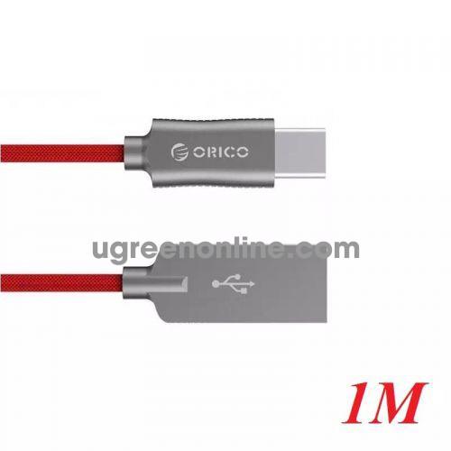 Orico Hcu-10-Rd Cáp Sạc Điện Thoại Typec Dây Dù Đỏ 1M - Type C To Usb 1M Cable ) - 98193