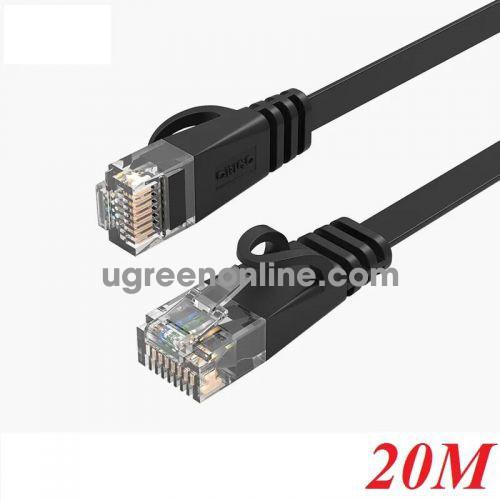 Orico PUG-C6B-200-BK 20M Cáp mạng CAT6 Dây dẹp Đen 95782 10095782