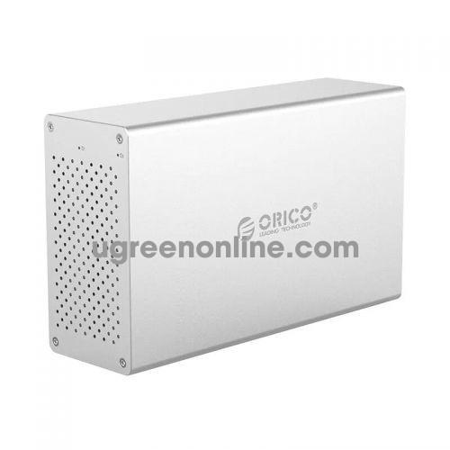 Orico WS200C3-EU-SV Hộp ổ cứng 2 khay 3.5'' USB 3.0 Màu Bạc - 96563