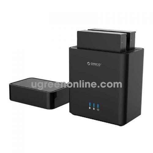 Orico Hộp ổ cứng 2 khay 3.5'' USB 3.0 Màu Đen Orico - 96302 10096302
