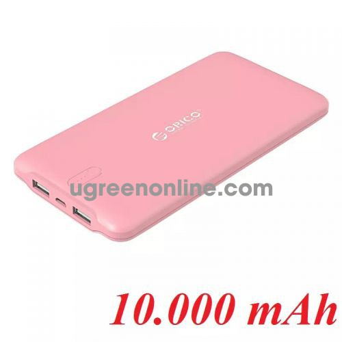Orico Ld100-Pk Pin Sạc Dự Phòng 10 000Mah Hồng 2 Cổng Usb 5V2.4A - 98549