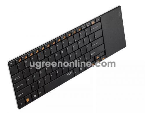 Rapoo E9180P 5Ghz Bàn Phím Và Chuột Touchpad Không Dây Màu Đen Đủ 12 Phím Chức Năng - 05659