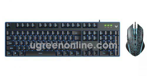 Rapoo V100s Bộ Bàn Phím Và Chuột Quang Cho Game Thủ 6400Dp I Đèn 7 Màu Siêu Bền - 06327