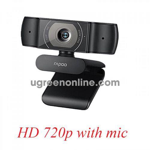 Rapoo c200 Webcam ống kính hỗn hợp độ phân giải HD 720P 25737 10025737