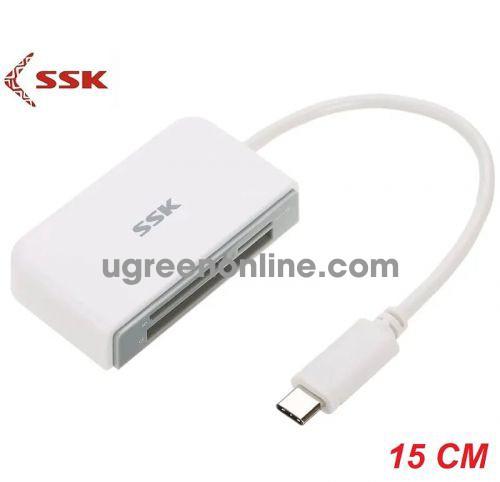 SSK SCRM-610 Màu Trắng Đầu đọc thẻ nhớ giao tiếp bằng cổng Usb Type-C 96582 10096582