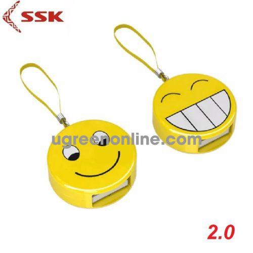 SSK SCRS-063 Màu Vàng Đầu đọc thẻ SD hình icon xinh xắn 97803 10097803