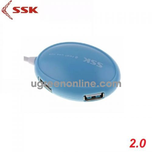 SSK SHU-017 Màu Xanh Hub chia 4 cổng USB 97396 10097396