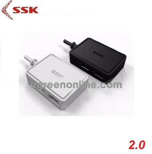 SSK SHU-200 Màu Trắng Hub chia 4 cổng USB 96256 10096256