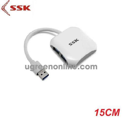 SSK SHU-300 15cm Màu Trắng Hub chia 4 cổng SUB 3.0 98013 10098013