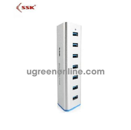 SSK SHU-370 Màu Trắng Hub chia 7 cổng USB 2.0 có nguồn 96403 10096403