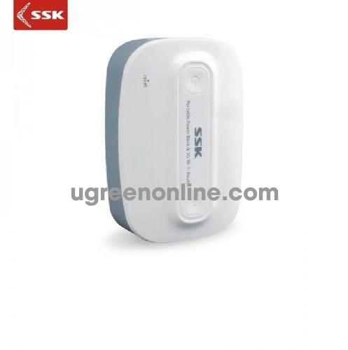 SSK SRBC-518 6600Mah Màu Trắng Pin sạc dự phòng kiêm phát 3G cho Smartphone 96968 10096968
