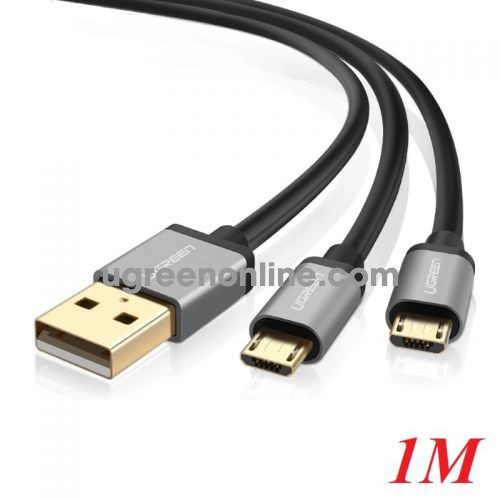 Ugreen 40351 Usb 2.0 To Dual Type C Data Cable Black 1M Us196