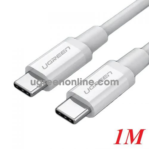 Ugreen 60518 1M Type C 2.0 Male To Male Cable Cáp Sạc Usb Type C Màu Trắng Us264