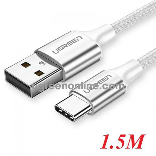 Ugreen 60132 1.5m usb to usb-c data cable aluninum case silver US288
