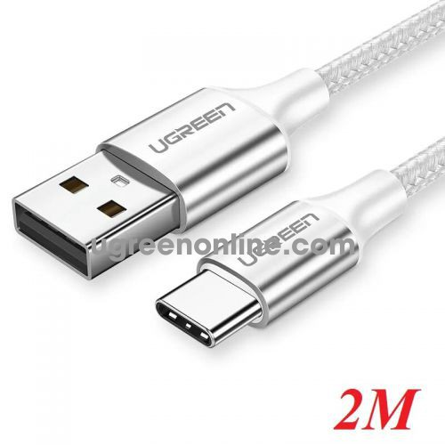 Ugreen 60133 2m usb to usb-c data cable aluninum case silver US288