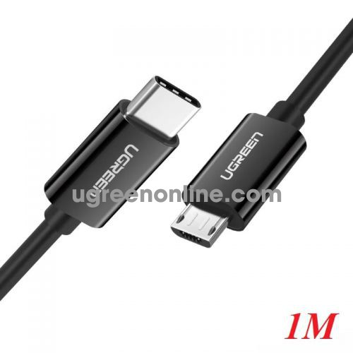 Ugreen 50444 1m Black USB Type-C to Micro USB Male to Male Cable US243 10050444