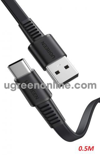 Ugreen 10971 0.5m 3a black USB A to type c 2.0 Cable 50cm US333 10010971
