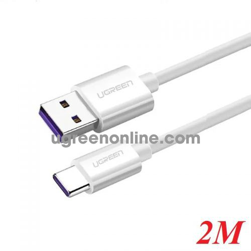 Ugreen 40889 2m usb 2.0 to type c 5a date cable white us253