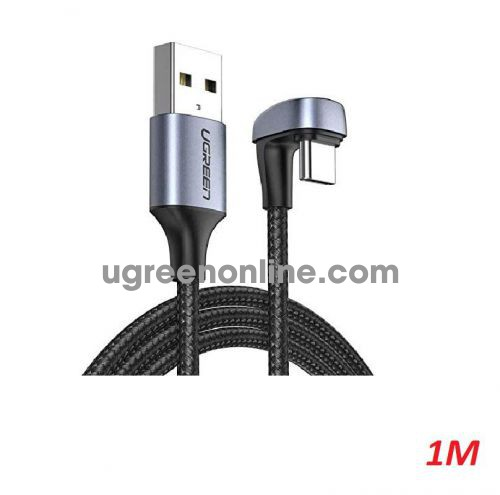 Ugreen 70313 1M Black U Shape Fast Charging USB type C Angled Cable Aluminum Case with Braided US311 10070313