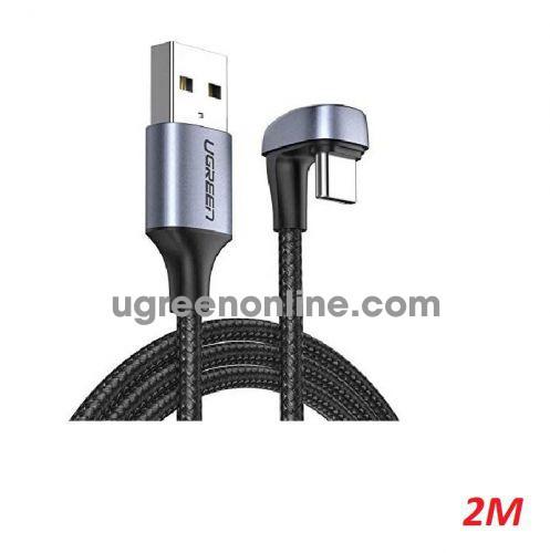 Ugreen 70315 2M black U Shape Fast Charging USB type C Angled cable Aluminum Case with Braided US311 10070315