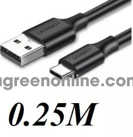 Ugreen 60114 Usb To Usb Type C Data Cable 0.25M Đen Us288