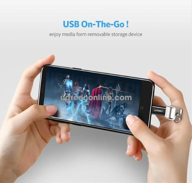 Ugreen 30865 usb 3.1 type c to micro usb adapter đen us157